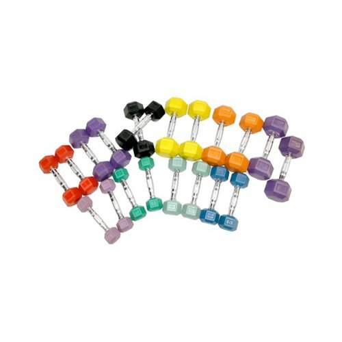 Element Fitness Colored Aerobic Hex Dumbbell Set
