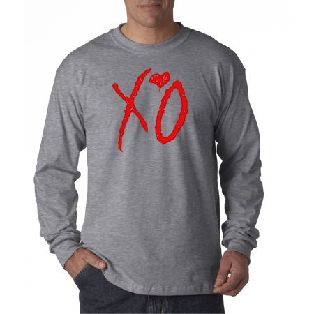628 - Unisex Long-Sleeve T-Shirt Xo Red The Weeknd ()