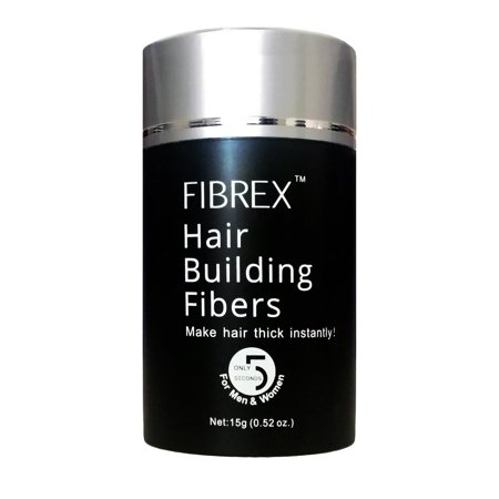 FIBREX Hair Building Thickening Fibers Loss Concealer Black 15g