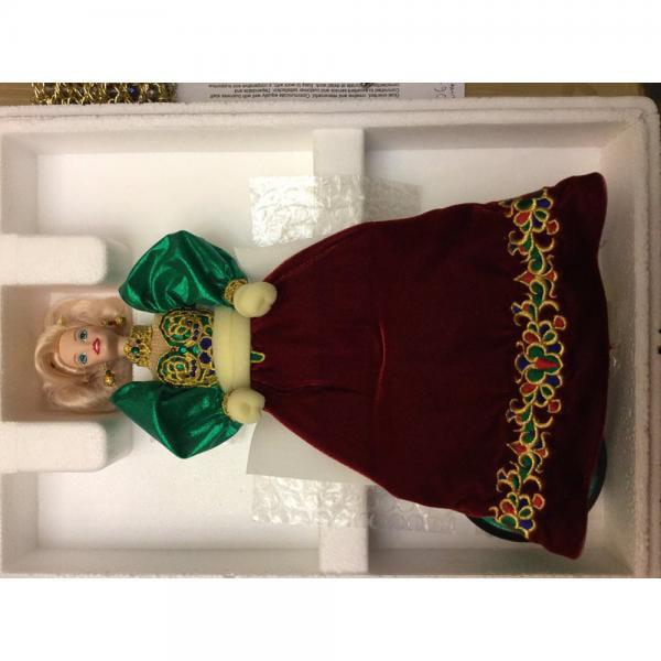 Mattel Holiday Jewel Porcelain Barbie Doll