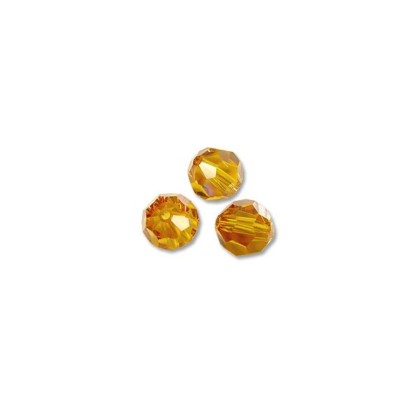 Swarovski Round Crystal Bead 5000 6mm Topaz (Package of 6)