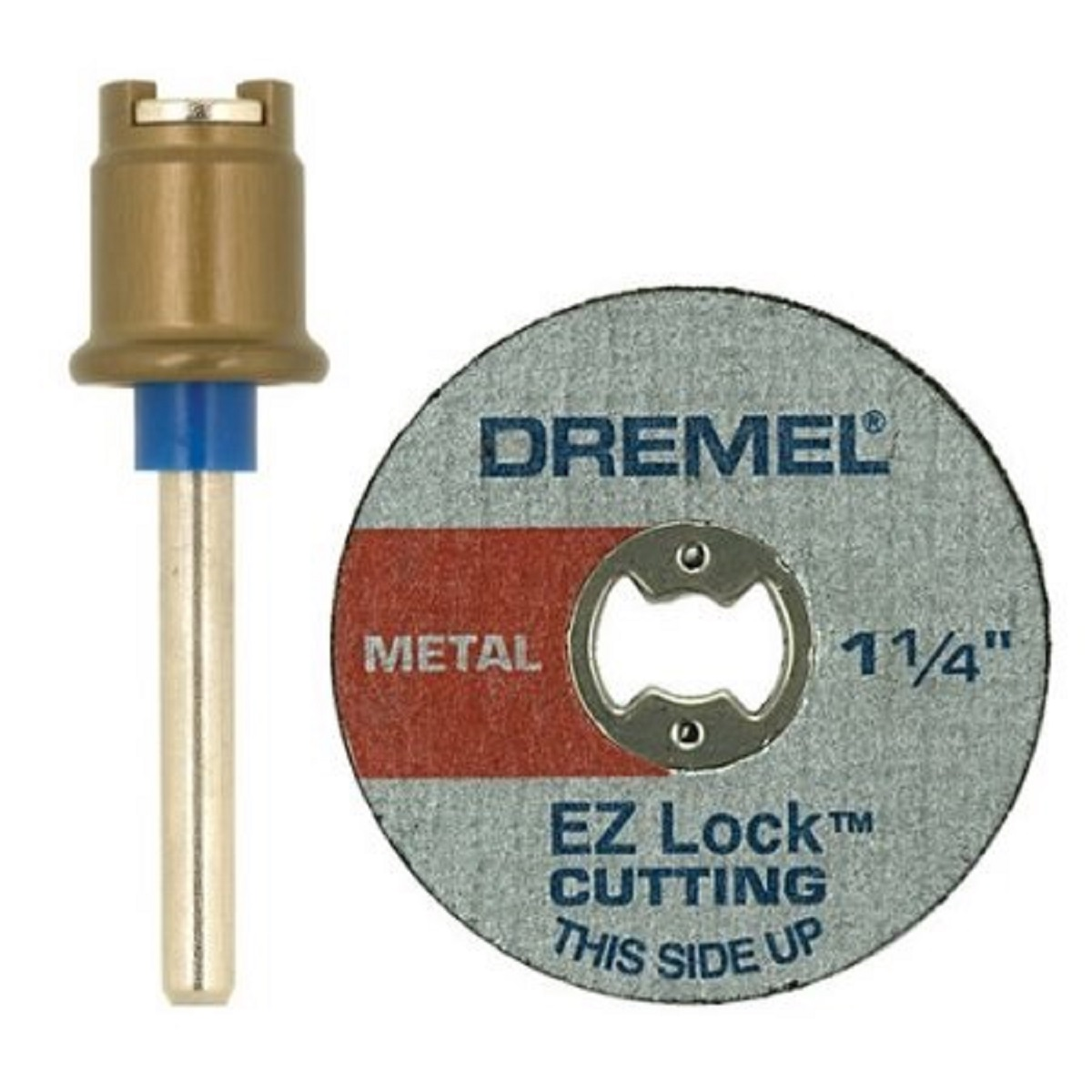 Dremel EZ404-01 EZ Lock Mandrel and Metal Wheel Set for Rotary Tools