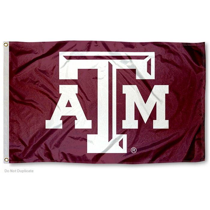 Texas A&M Aggies Beveled Logo 3' x 5' Pole Flag