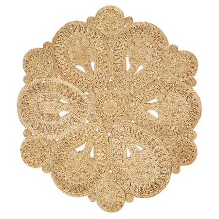Round Contemporary Natural - LR Home Natural Jute Natural Round Indoor Rug(4' x 4')