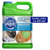 Cats Pride Total Odor Control, Unscented Multi-Cat Clumping Litter, Odor Locking and 99% Dust Free, 15 lbs.