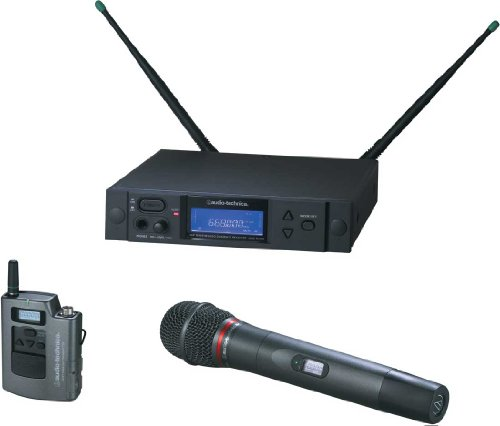 Audio-Technica AEW-4316AC 4000 Series Wireless Handheld Microphone and Body Pack Combo... by