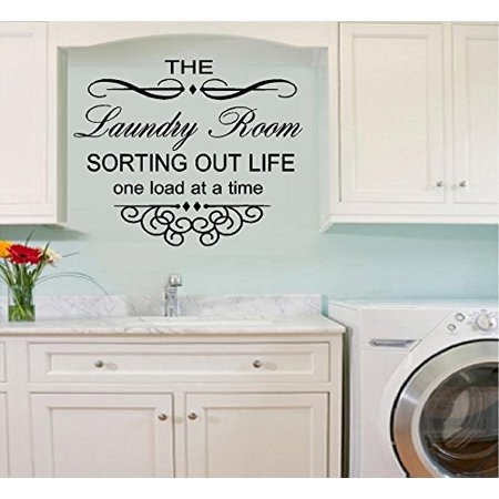 Decal ~ The Laundry Room.. Sorting out life one load at a time #22 Wall or Window Decal (16