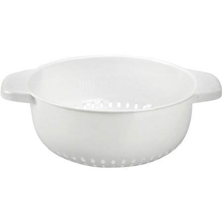 White Plastic Strainer - BRADSHAW INTERNATIONAL 12492 6Quart Strainer/Colander
