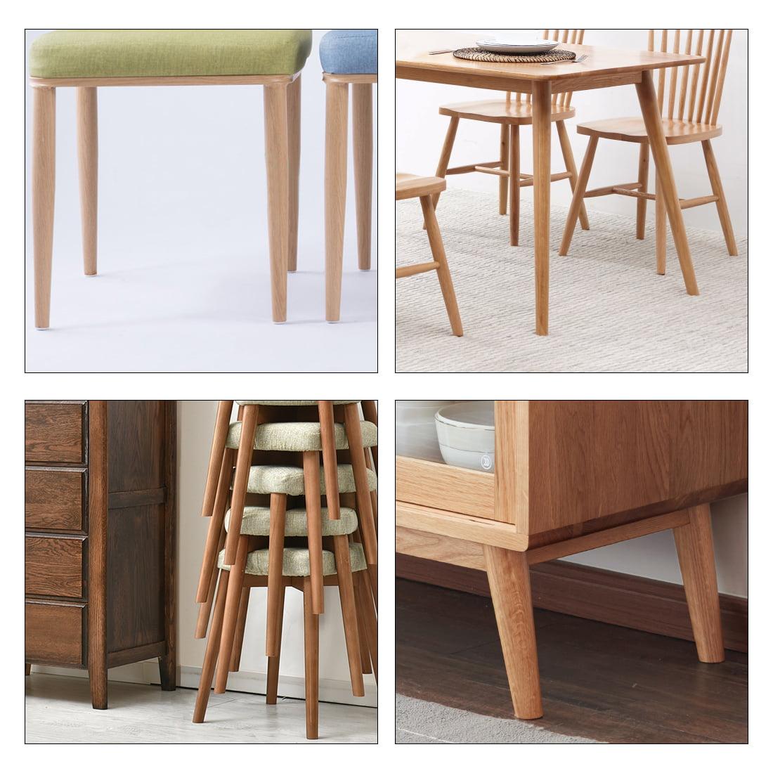 Chair Table Leg Protector Pad 22mm Dia White Plastic 40pcs Furniture Feet Nail