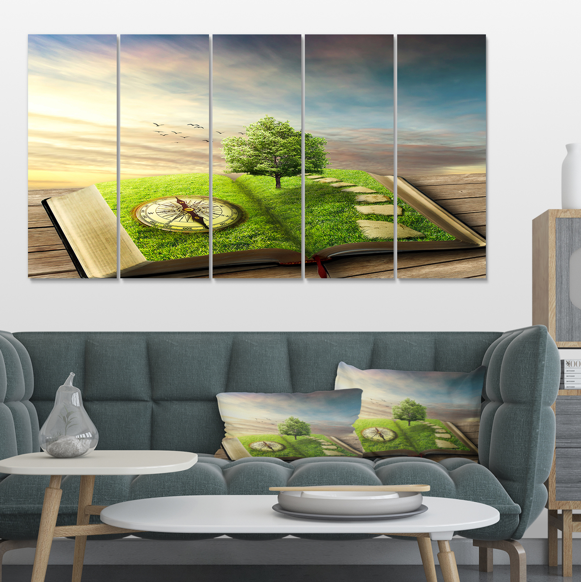 Book of Life with Greenery - Landscape Canvas Art Print - image 3 de 3
