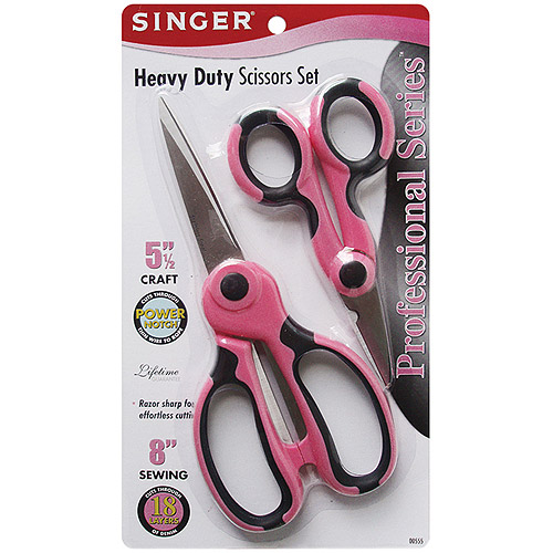 "Singer Professional Series Heavy-Duty Scissors Set, 5.5"" and 8"""