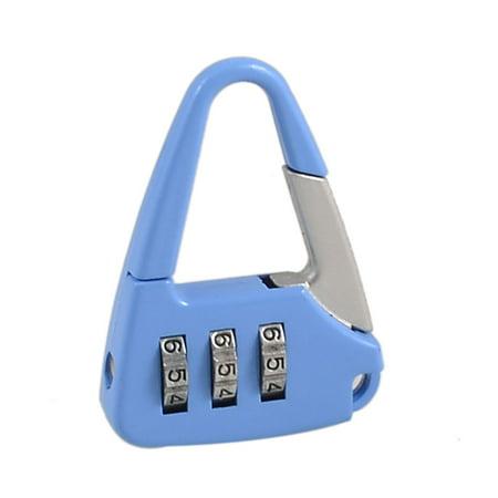 Metal Handbag Shaped 3 Digit Padlock 4 Pack Resettable Combination Lock Blue