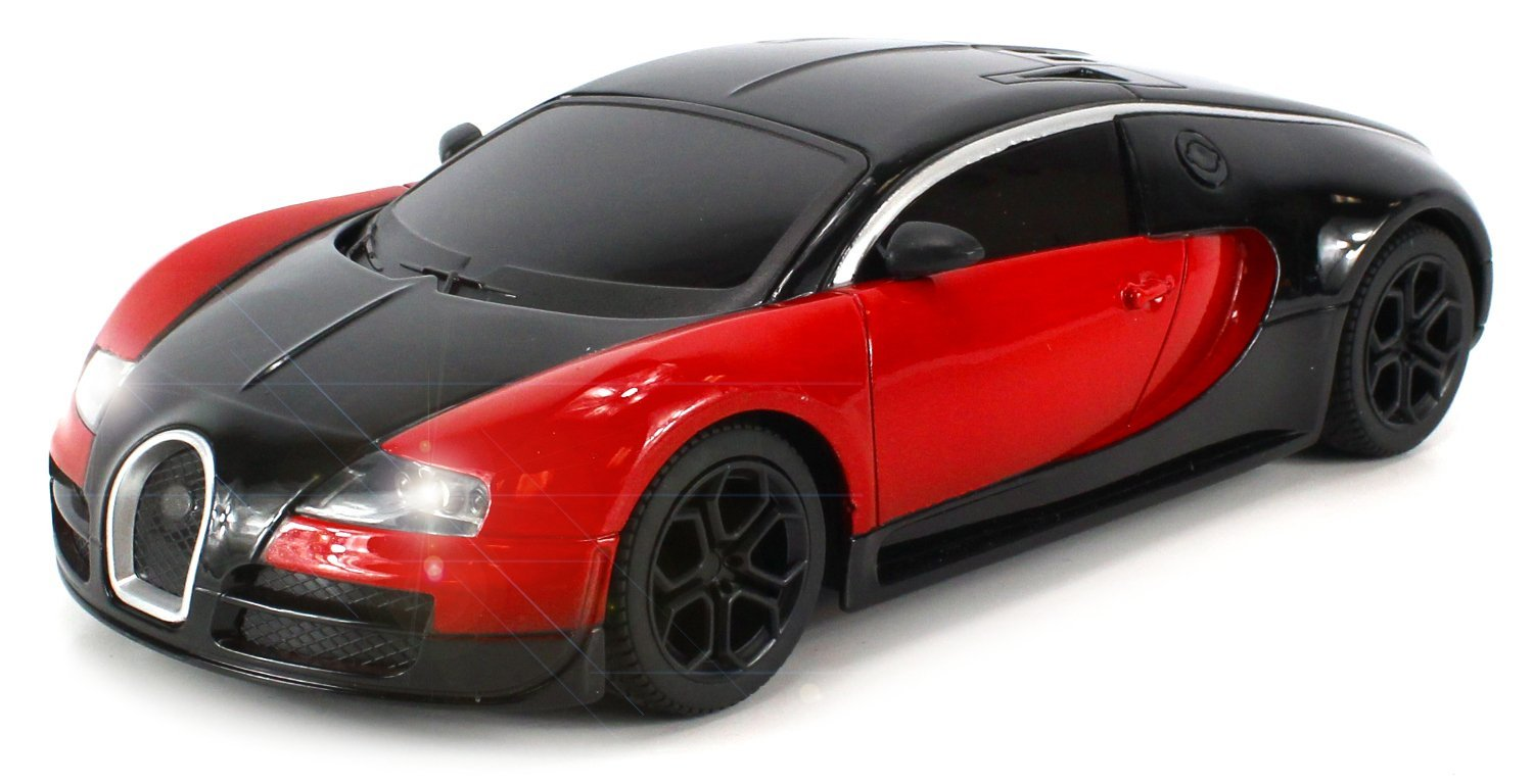Diecast Bugatti Veyron Super Sport Electric Remote Control Car Metal Body 1:24 Scale Size... by Velocity Toys