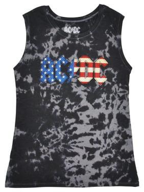 64f30958575f2 Product Image Juniors ACDC American Tie Dye Sleeveless Shirt Medium