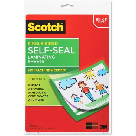 Self Seal Heat Free Laminating Pouches 10 Pack  Letter Size  9 5In  X 11 5In   Photo Safe  10 Pouches Per Pack