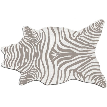 The Rug Market Zebra Grey Shaped Rug, 5' x 8'