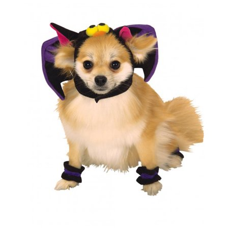Bat Spooky Halloween Headpiece and Cuffs Pet - Pet Bat