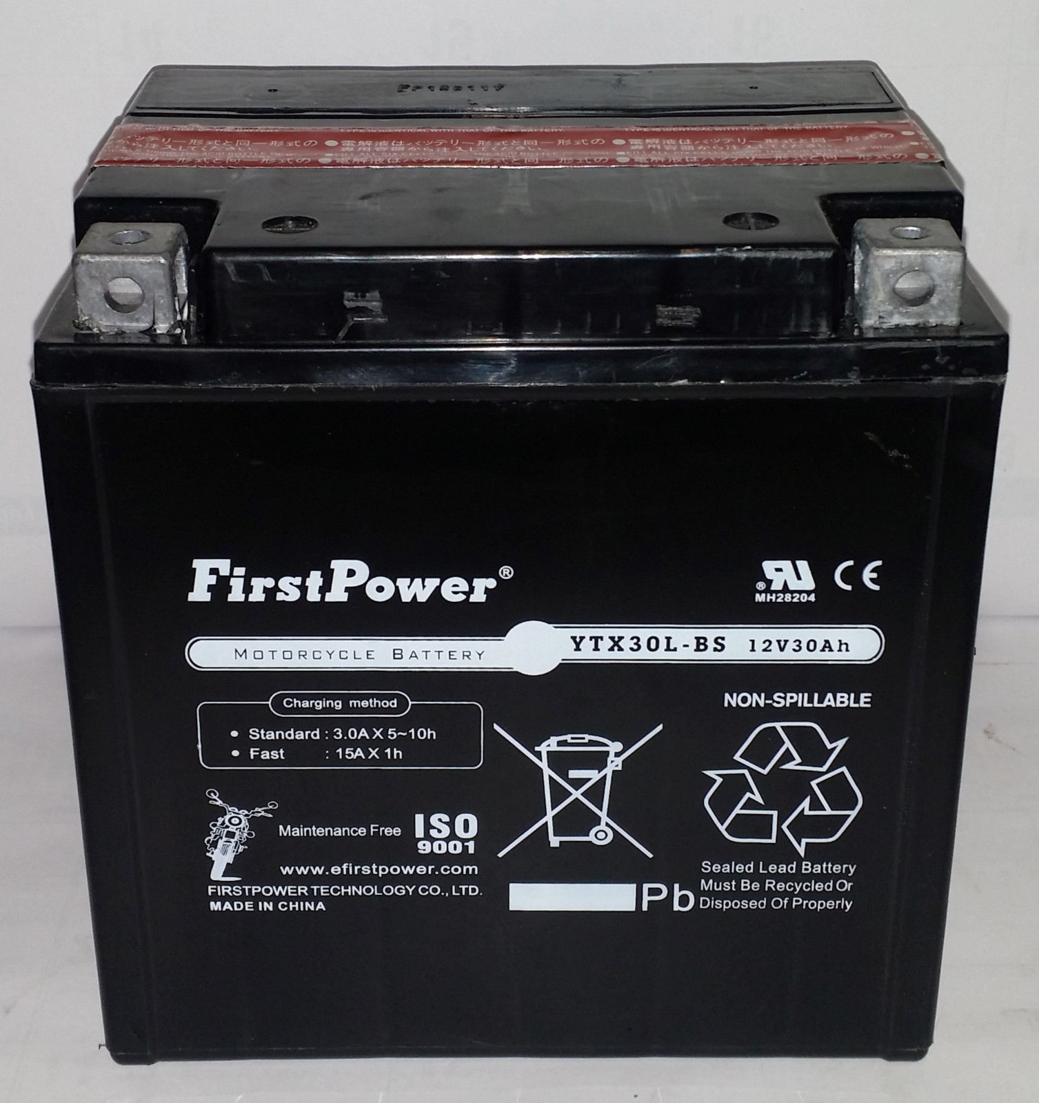 (1) FirstPower YTX30L-BS For Snowmobile Bombardier Ski-Doo by Firstpower