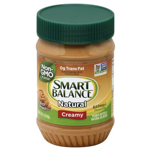 (2 Pack) Smart Balance® Creamy Natural Rich Roast Peanut Butter 16 oz. Jar