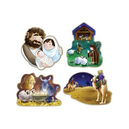 Set Of 4 Nativity Scene Cutouts Christmas Holiday Party Decorations 16