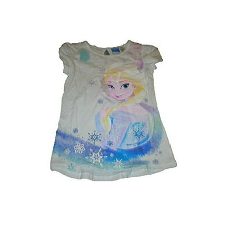 Big Girls Disney Frozen Xs - Xl Tee Shirt with Bow (S 6/6x)
