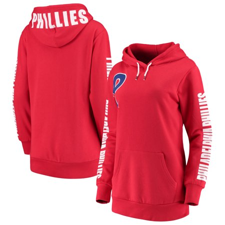 Philadelphia Phillies G-III 4Her by Carl Banks Women's 12th Inning Pullover Hoodie - Red