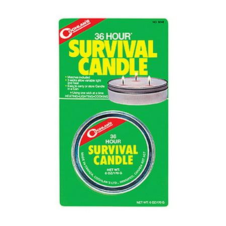 Coghlans Emergency 36-Hr Survival Candle SKU: 9248 with Elite Tactical