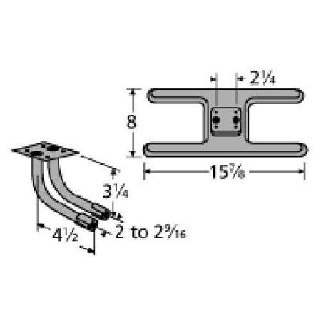 Cast Iron Burner Replacement for Select Broil King and Broil King Gas Grill (Twist N Set Cast Iron Replacement Closet Flange)