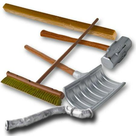 Wrestling Figure Gear Deal 13: Pipe, Sledgehammer, 2x4, Shovel, Broom For WWE Wrestling Action Figures](Wwe 13 Halloween Havoc)
