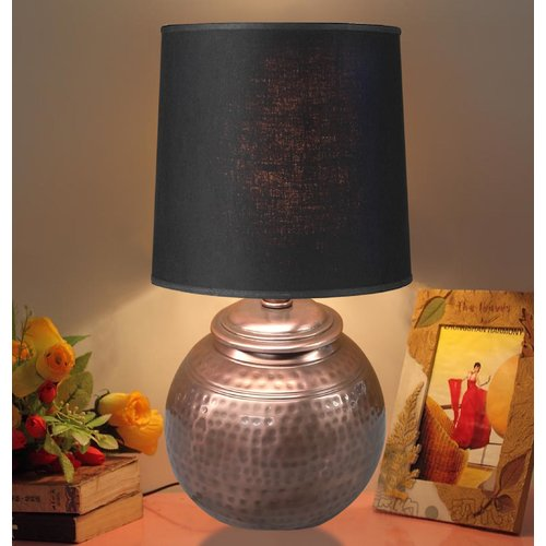 NU Steel Hammered Textured Ball 20'' Table Lamp