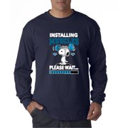 New Way 433 Unisex Long-Sleeve T-Shirt Installing Muscles Please Wait Snoopy Peanuts by