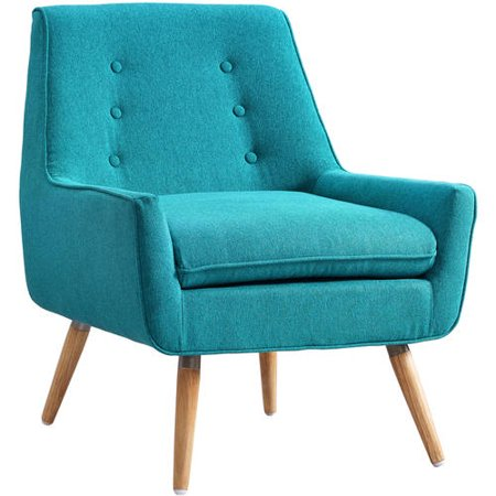 Linon Trelis Chair Bright Blue 18 5 Inch Seat Height