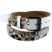 $75 Ed Hardy Check Mate Leather Tattoo Belt