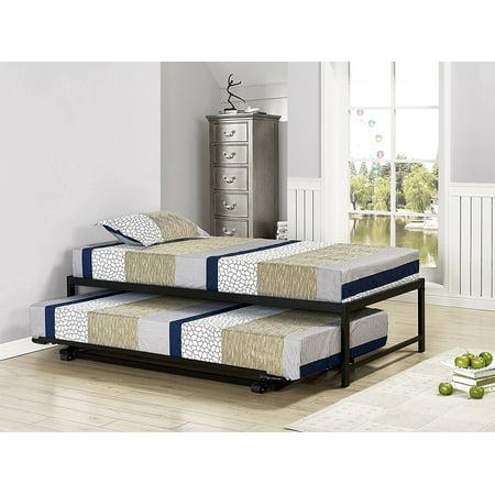 Pilaster designs 39 39 39 twin size black metal high riser Bedroom furniture high riser bed frame