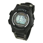 Fashion Waterproof EL Backlight Digital Alarm Sport Wrist Watch for Kids Children