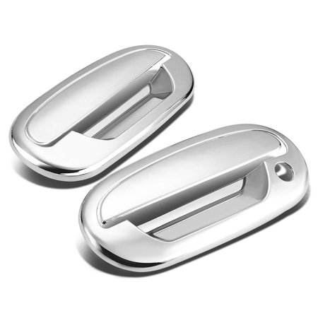 Heritage Chrome 2 Handle - For 97-04 Ford F-150/Heritage 2pcs Exterior Door Handle Cover without Passenger Keyhole & Keypad (Chrome) 99 00 01 02 03