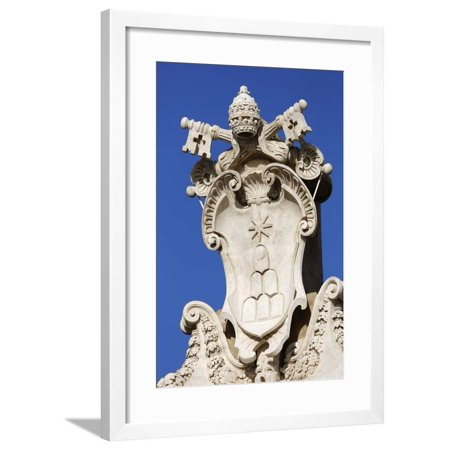 The Coats of Arms of the Holy See and Vatican City State Framed Print Wall Art By Stuart
