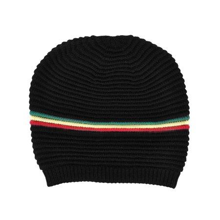 63ca3476495 BASILICA - Men   Women s Oversized Slouchy Winter Knit Black Beanie ...