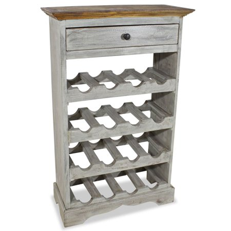 Wine Rack Solid Reclaimed Wood 21.7