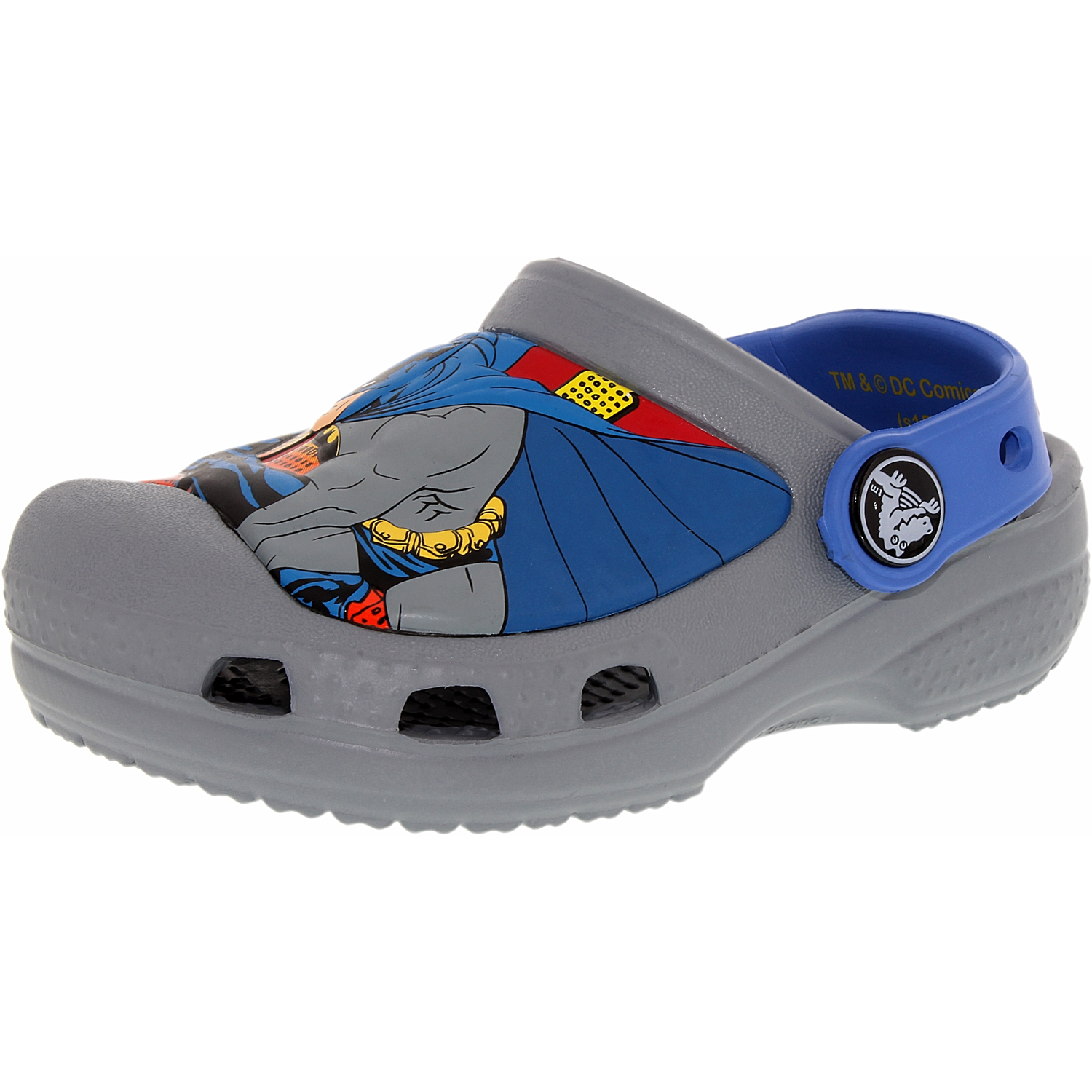 Crocs Creative Crocs Batman Clog Toddler Round Toe Synthetic Gray Clogs by Crocs