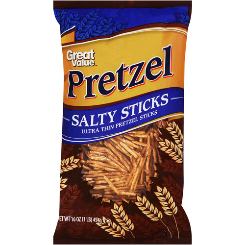 Great Value Pretzel Salty Sticks, 16 oz