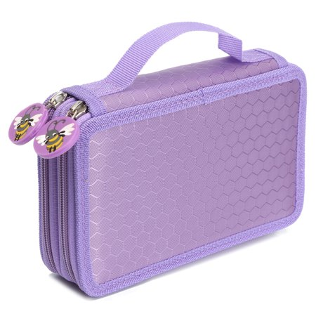 Meigar 2 layer 36 Holes Pen Pencil Case Box with Zipper for School Kids Girls Today's special Offer