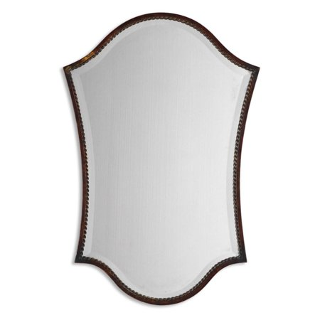 - Uttermost Abra Distressed Bronze Arched Vanity Wall Mirror - 20.125W x 29.75H in.