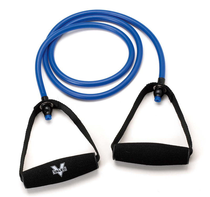 Valeo 4-Foot Heavy Resistance Tube With Cushion Foam Handles And Fitness Guide Included To Improve Balance, Coordination, Flexibility, And Strength