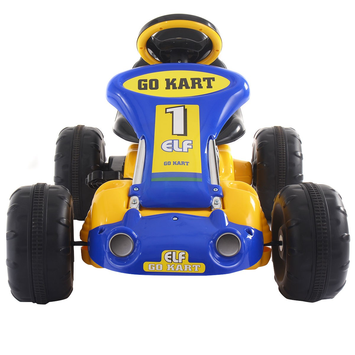 Go Kart Kids Ride On Car Pedal Powered Car 4 Wheel Racer Toy Outdoor Yellow