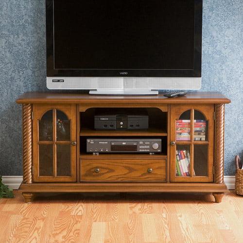 """Enrique Antique Oak Media Console for TVs up to 50"""""""