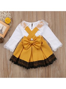 c55a1b4b5b92 Product Image 0-24M Newborn Baby Girl Lace Jumpsuit Romper Bodysuit Party  Bowknot Skirt Dress Outfit