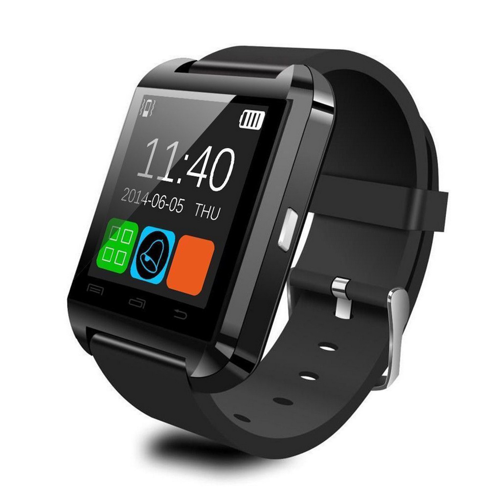 Smart Wrist Watch Phone Mate U8 Bluetooth V3.0 + EDR For iPhone IOS For Samsung Android Red