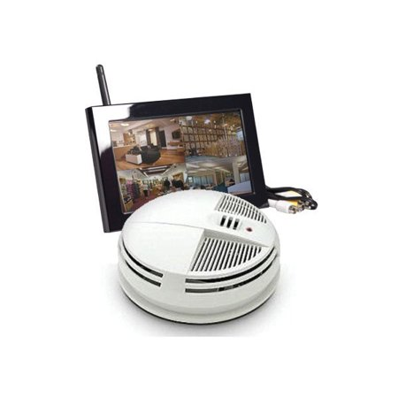 KJB Security C1540 Night Vision Bottom View Smoke Detector QUAD LCD