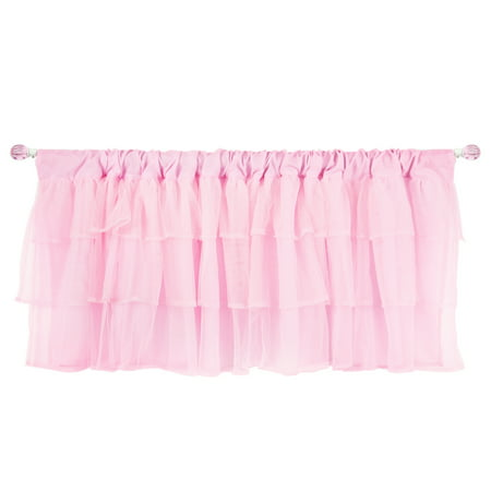 Tadpoles Triple-Layer Tulle Window Valance